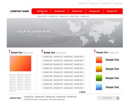 website template vector Vector