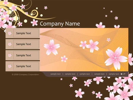 website template vector Stock Vector - 5311199