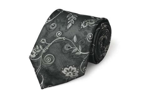 Fashion black silk necktie