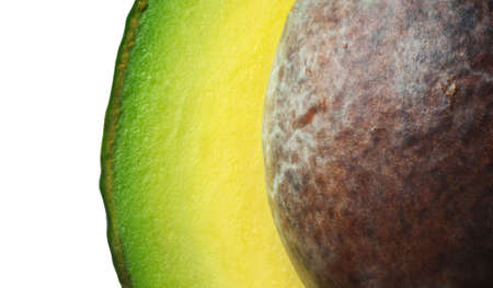 Abstract picture of avocado with seed (macro)