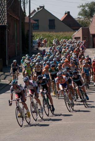 criterio: Lierde, Belgio - 20 agosto 2010: gara ciclistica in Belgio, Eneco Tour