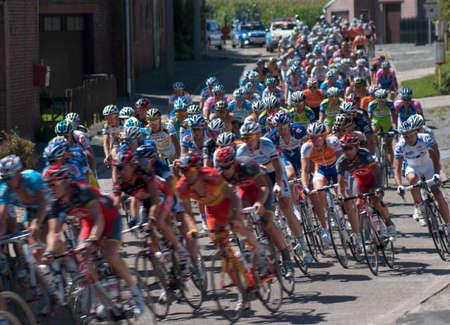 Lierde, Belgium - August 20, 2010: Cycle race in Belgium, Eneco Tour