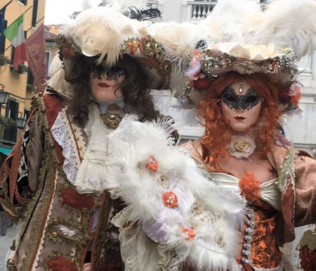 venise, Italy costumed couple at carnival