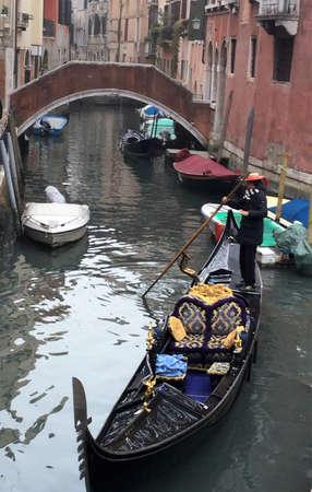 Venise, Italy, gondolas in the canaleto