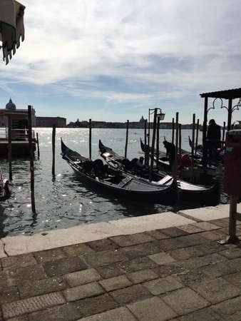 Venise, Italy, the gondolas