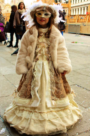 Elegant Child Costumed at carnival