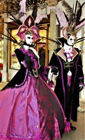Stunning Costumed Couple Stock Photo