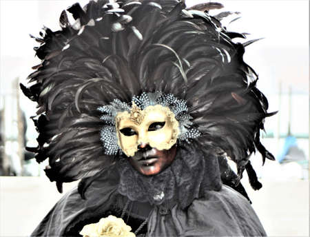 mask and costume at venise carnival