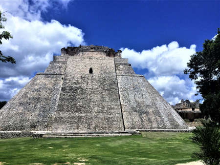 uxmal, mayan temple, mexico Stok Fotoğraf