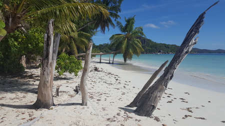 Praslin beach Stock Photo