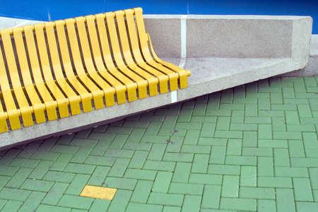 plaza: Yellow brick. One nice plaza from Pitesti,Romania. Intersections of colors Stock Photo