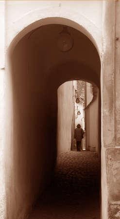 One narrow street from Brasov,Romania photo