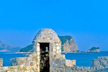 ballad: Budva,Montenegro,July 2004. Part from the old stronghold Stock Photo