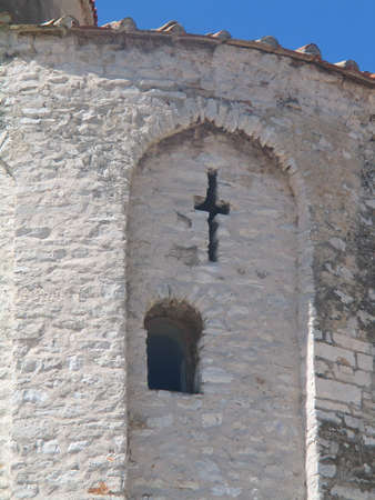 Detail from one church in Zadar, Croatia.  Stock Photo