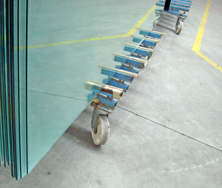 Inside in one factory. ( glass house ). October 2007 photo