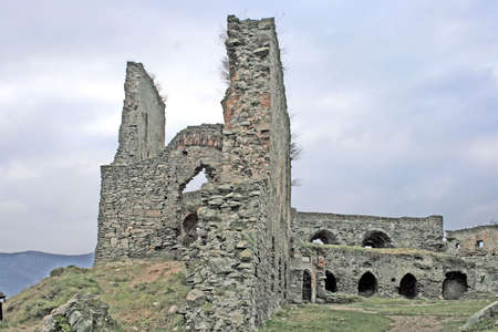 Part from Deva's stronghold , dated on 1269. Romania. Stock Photo - 2307889