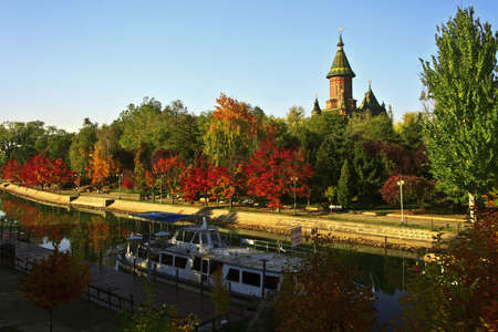 Somewhere along the Bega River, Timisoara, Romania. in October 2011. Stock Photo