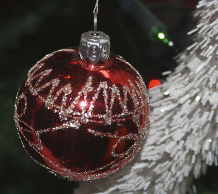 Christmas ornaments decorated a tree.Photo taken on Timisoara, Romania.