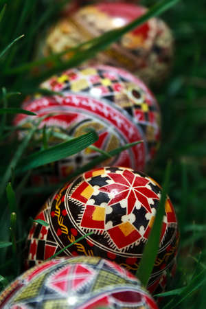 Trditional painted Easter eggs. Specific for the N-E of Romania. Stock Photo - 13283327