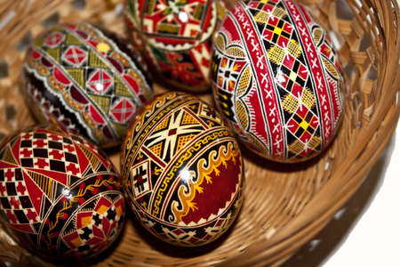 Trditional painted Easter eggs. Specific for the N-E of Romania. Stock Photo - 13283365