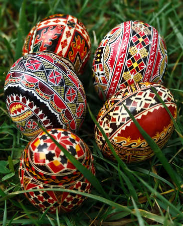 Traditional painted Easter eggs. Specific for the N-E of Romania. Stock Photo - 13324246