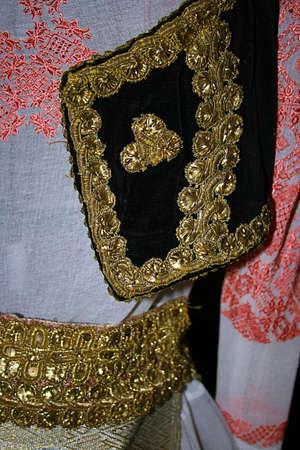 Old traditional Romanian folk costume  Specific Banat,Romania  photo
