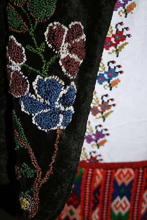 Old traditional Romanian folk costume  Specific Banat, Romania  photo