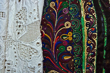 Old traditional Romanian folk costume  Specific Banat, Romania