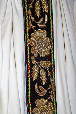 Old traditional Romanian folk costume  Specific Banat, Romania  photo