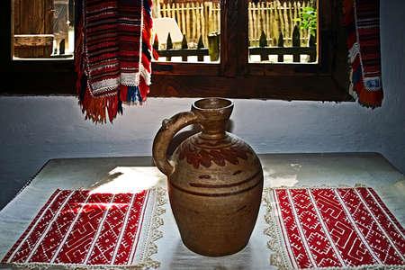 Romanian farmhouse interior, the Banat region, Romania  photo