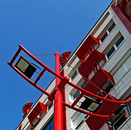Part of one modern building from Belgrade, Serbia  photo