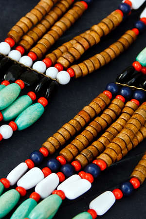 Different colored trinkets displayed in the waiting customers Stock Photo - 13823916