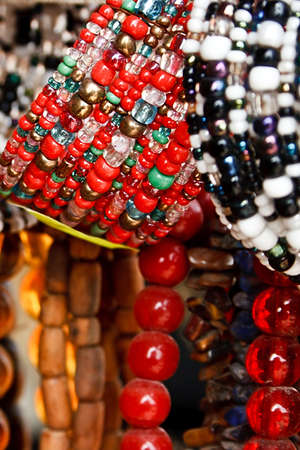 Different colored trinkets displayed in the waiting customers Stock Photo - 13823935