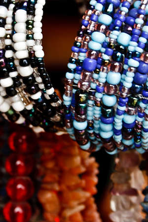 Different colored trinkets displayed in the waiting customers Stock Photo - 13823913