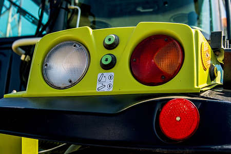 harrowing: Part of a lighting system for agricultural machines Stock Photo
