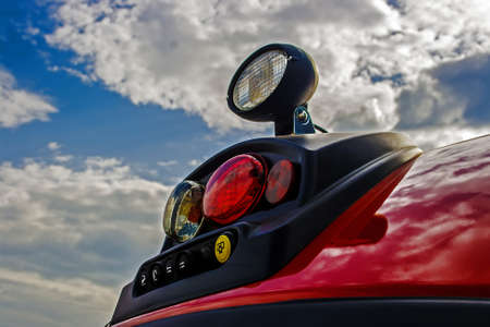 lighting system: Part of a lighting system for agricultural machines Stock Photo