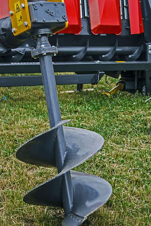 harrowing: Equipment for agriculture, presented to an agricultural exhibition