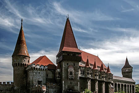 xv century: Corvins Castle,  XV century , located in Romania, on the Center of Hunedoara City, southwestern part of Transylvania  Known as one of the frequently visited castles of Count Dracula