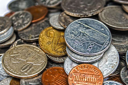 leu: Old coins of different nationalities, from different periods
