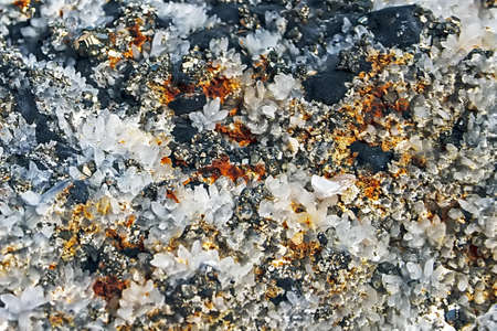 Mineral crystals and stones in various structures Stock Photo - 14894299