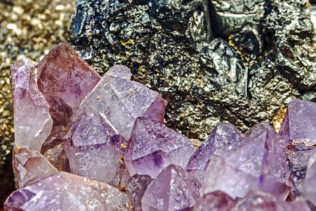 Mineral crystals and stones in vaus structures Stock Photo - 14894364