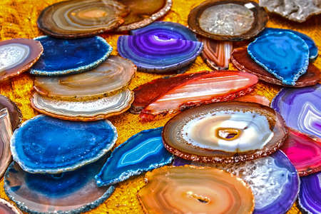 semiprecious: Mineral crystals and stones, with energy effect, in different structures