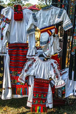 romanian: Romanian traditional costumes from Bistrita-Nasaud area
