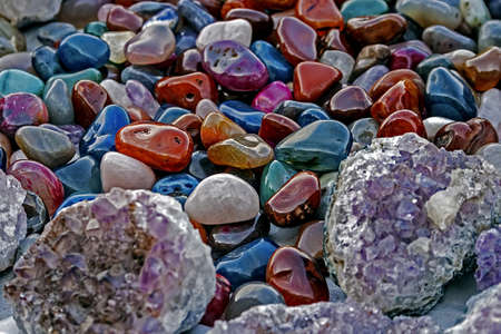 Mineral crystals and stones, with energy effect, in different structures Stock Photo - 17543955