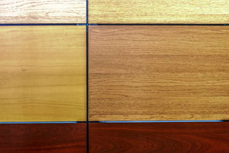 imitate: Interior flooring materials with different colors that imitate wood