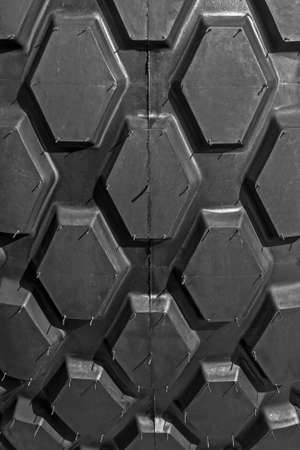 Rubber tire structure for agricultural equipment, seen by almost  photo