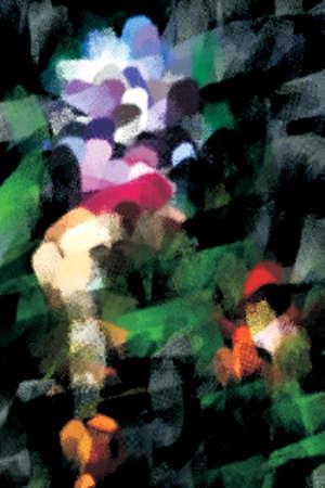 irregular shapes: Fondo abstracto con formas irregulares y colores Foto de archivo