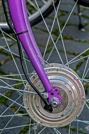 Detail of the front wheels to the bike