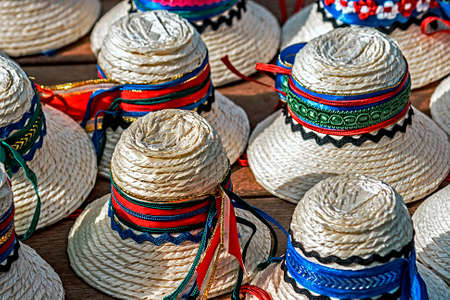 Hats for men, traditional romanian from Maramures area  photo