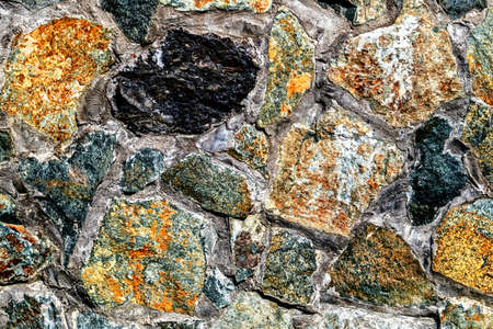 Background wall decorative made from mountain stone. photo